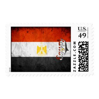 Egypt Grunge Flag Postage Stamp