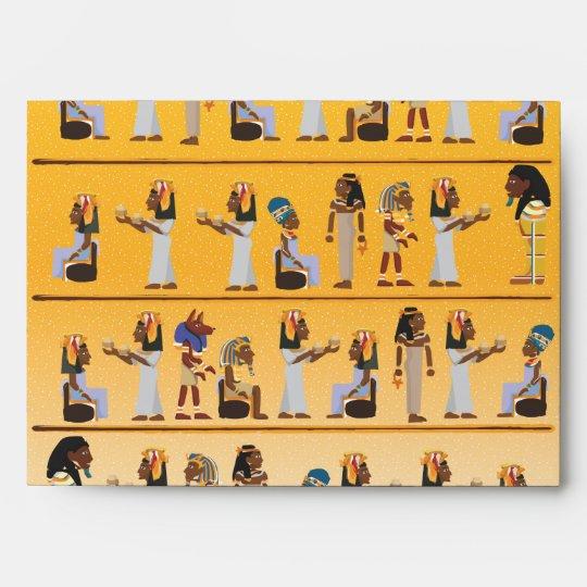 Egypt Hieroglyphs Envelope