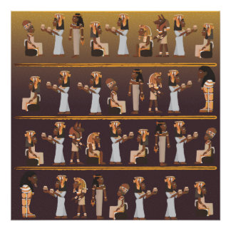 Egypt Hieroglyphs Poster