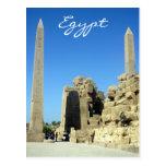egypt karnak obelisks postcard