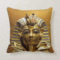 Egypt King Tut Throw Pillow