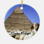 Egypt, Land of Mystery Round Ceramic Ornament