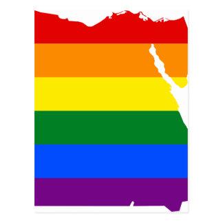 Egypt LGBT Flag Map Postcard