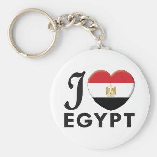 Egypt Love Basic Round Button Keychain