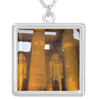 Egypt, Luxor.  Karnack Temple. Square Pendant Necklace