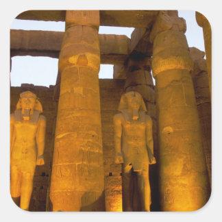 Egypt, Luxor.  Karnack Temple. Square Sticker