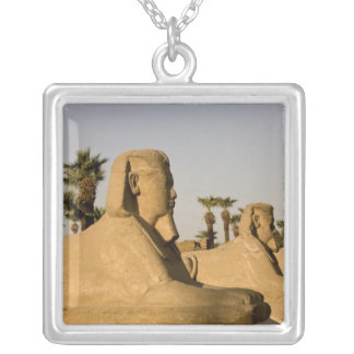 Egypt, Luxor. The Avenue of Sphinxes leads to Silver Plated Necklace