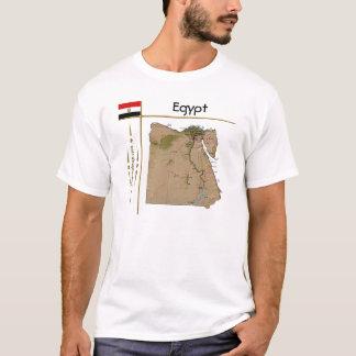 Egypt Map + Flag + Title T-Shirt