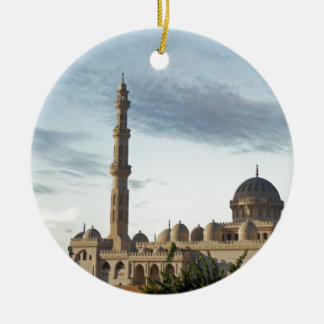 egypt mosque Double-Sided ceramic round christmas ornament