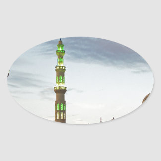 egypt mosque oval sticker