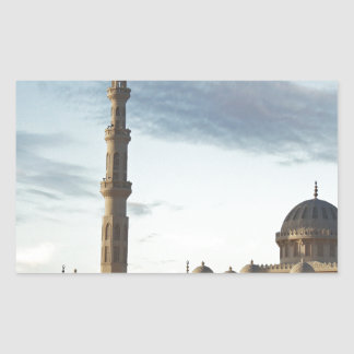 egypt mosque rectangular sticker