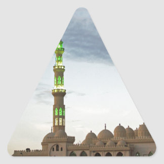 egypt mosque triangle sticker