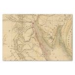 "Egypt, Palestine and Arabia Map 10"" X 15"" Tissue Paper"