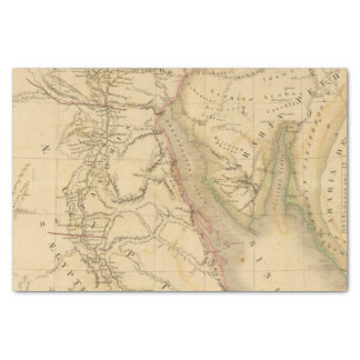 "Egypt, Palestine and Arabia Map 10"" X 15"" Tissue Paper"