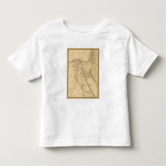 Egypt, Palestine and Arabia Map Toddler T-shirt