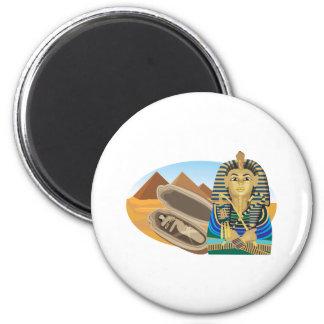 Egypt Pharaoh 2 Inch Round Magnet