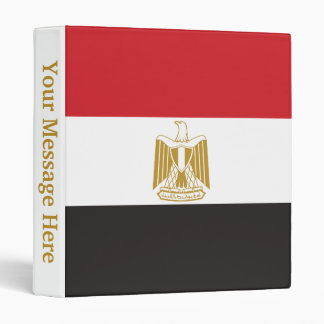 Egypt Plain Flag 3 Ring Binder