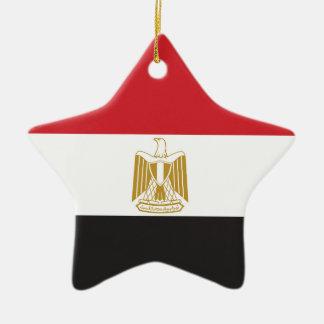 Egypt Plain Flag Ceramic Ornament