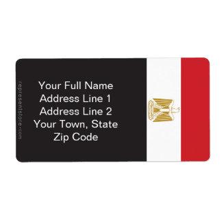 Egypt Plain Flag Label