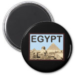Egypt Pyramid of Khafre 2 Inch Round Magnet