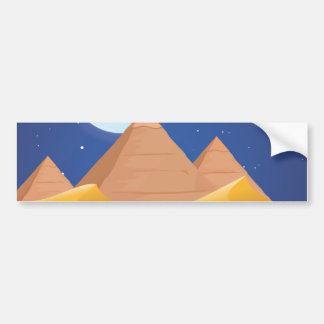 Egypt Pyramids Bumper Sticker