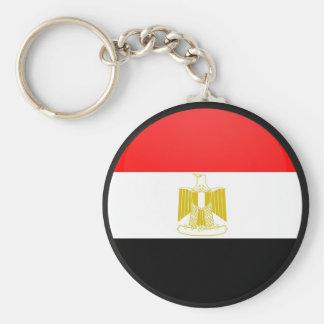 Egypt quality Flag Circle Basic Round Button Keychain