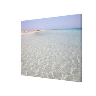 Egypt, Red Sea, Marsa Alam, Sharm El Luli, Beach 2 Canvas Print
