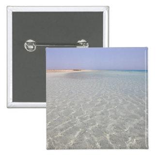 Egypt, Red Sea, Marsa Alam, Sharm El Luli, Beach 2 Pinback Button
