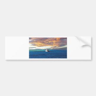 egypt red sea sunset bumper sticker