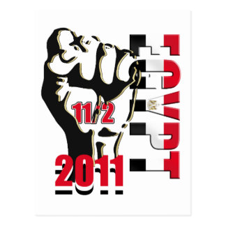Egypt Revolution Liberation 11th of February 2011 Postcard