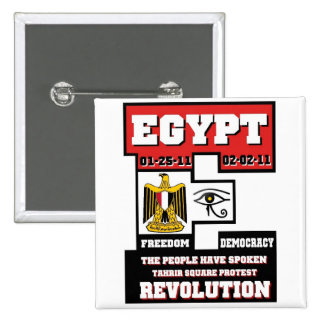 Egypt Revolution Pinback Button