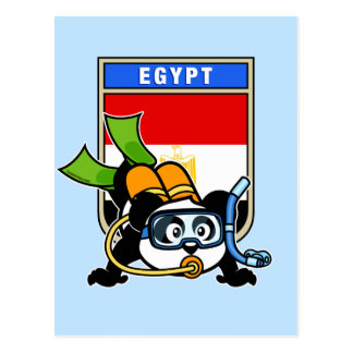 Egypt Scuba Diving Panda Postcard
