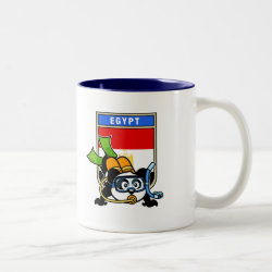 Two-Tone Mug with Egypt Scuba Diving Panda design