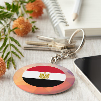 Egypt Souvenir Basic Round Button Keychain