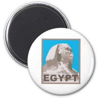 Egypt Sphinx 2 Inch Round Magnet