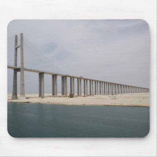 Egypt, Suez Canal. Bridge of Peace aka Peace Mouse Pad