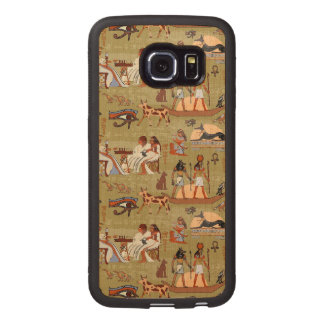 Egypt | Symbols Pattern Wood Phone Case