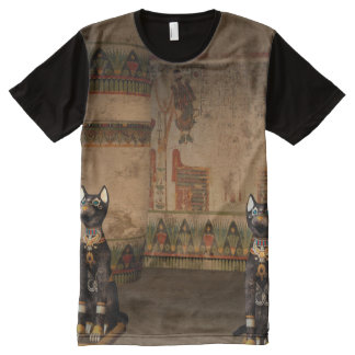 Egypt temple with hieroglyphics All-Over print t-shirt