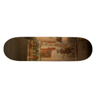 Egypt temple with hieroglyphics skate boards