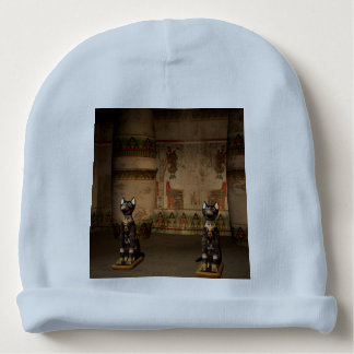 Egypt temple with hieroglyphics baby beanie