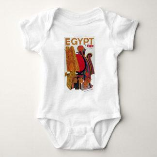 Egypt Vintage Air Travel Ancient Culture Tourism Baby Bodysuit