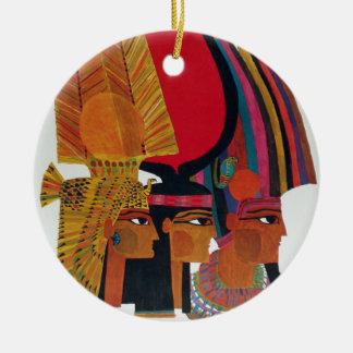 Egypt Vintage Air Travel Ancient Culture Tourism Ceramic Ornament