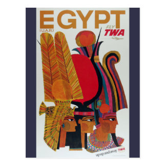 Egypt Vintage Air Travel Ancient Culture Tourism Postcard