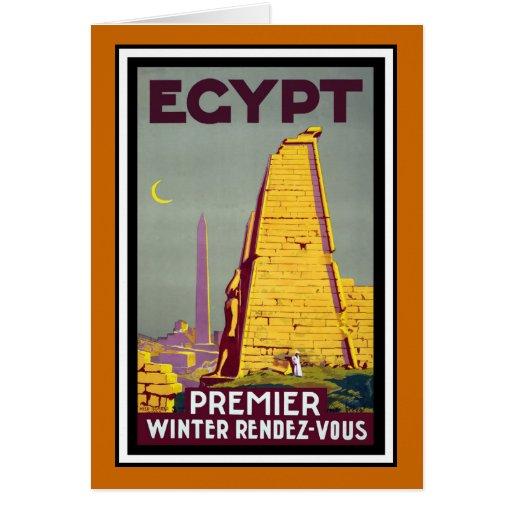 Egypt Vintage Travel Card
