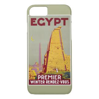 Egypt vintage travel poster Restored iPhone 8/7 Case