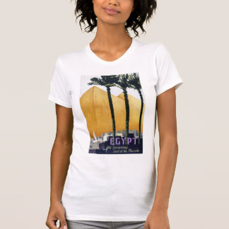 Egypt Vintage Travel Poster Restored T-Shirt
