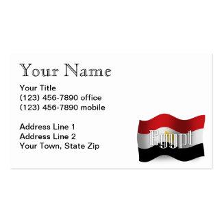 Egypt Waving Flag Business Card