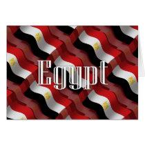 Egypt Waving Flag Card