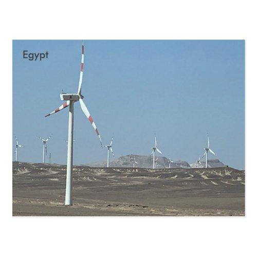 Egypt Wind Farm Egypt Postcard