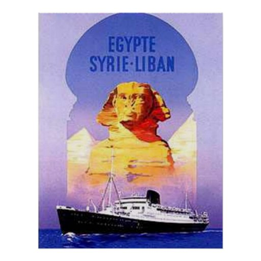 Egypte Syrie Liban Cruise Vintage Print Posters